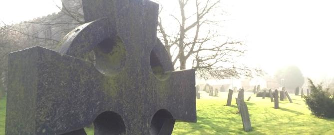 graveyard St Andrew's Church Whissendine Rutland The Reverend Janet Tebby