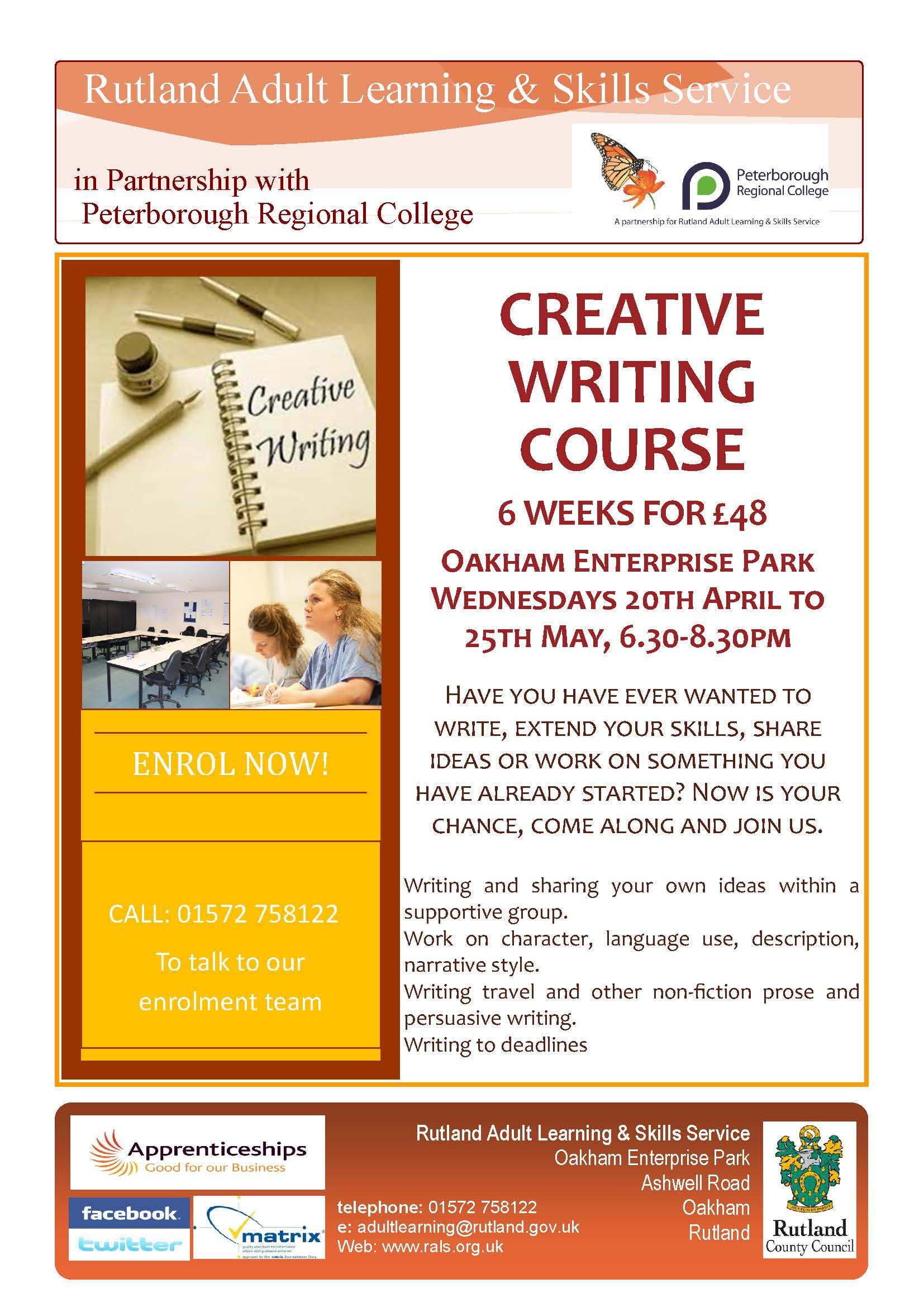 creative writing college course Creative writing from wesleyan university this specialization covers elements of three major creative writing genres: short story, narrative essay, and memoir you will master the techniques that good writers use to compose a bracing story,.