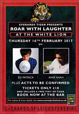 roar with laughter leicester whissendine white lion inn