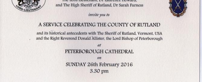 Peterborough Cathedral Invitation