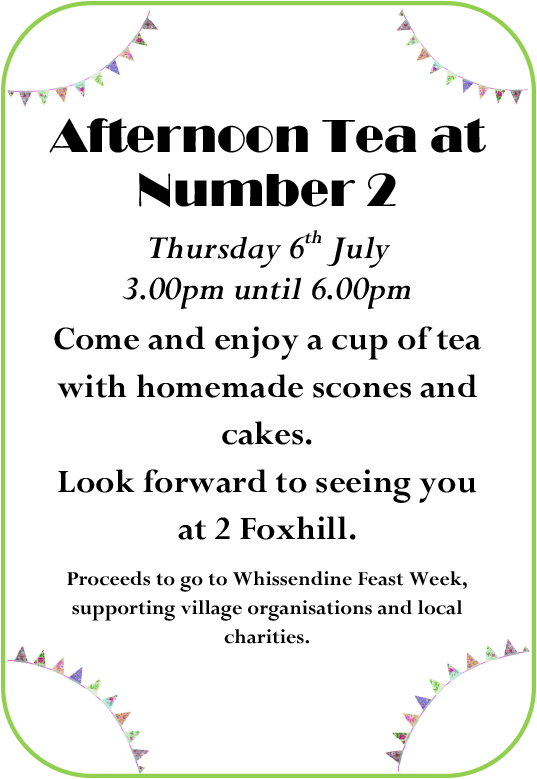 Microsoft Word - Afternoon Tea at Number 2 poster